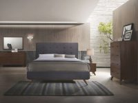 Modrest Addison Mid-Century Modern Grey & Walnut Bedroom Set with Awesome Bedroom Set Grey