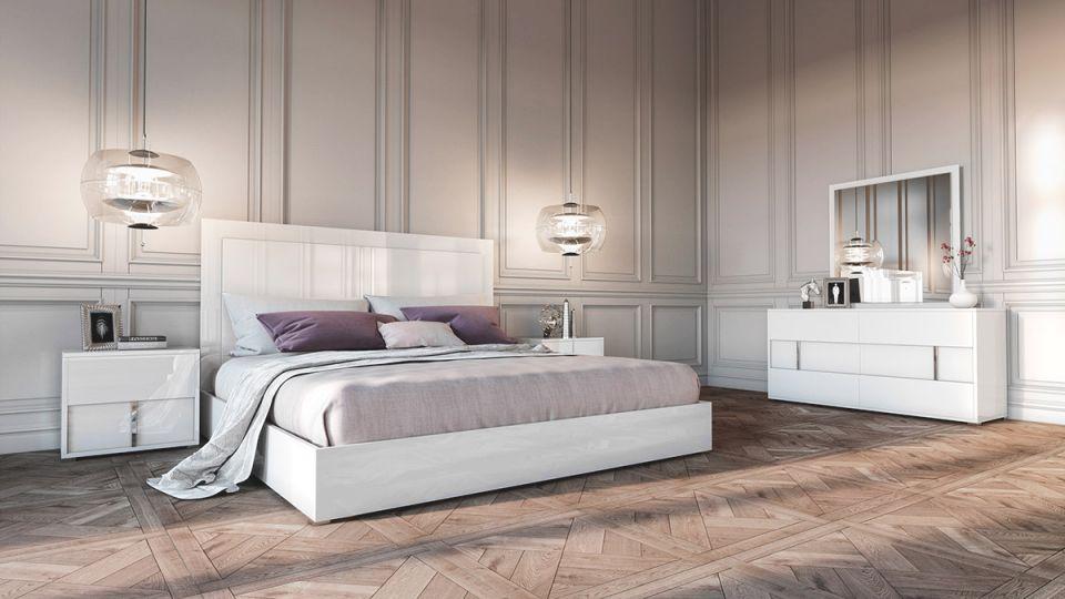 Modrest Nicla Italian Modern White Bedroom Set for Bedroom Set Modern
