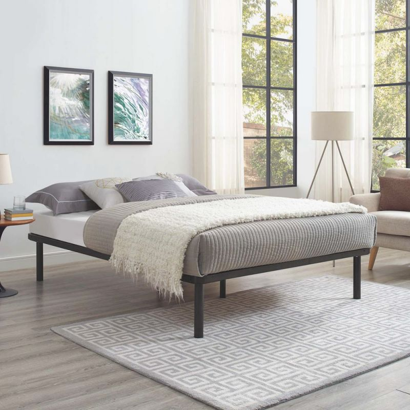 Modway Rowan Brown King Bed Frame regarding Best of King Bed Frame With Headboard