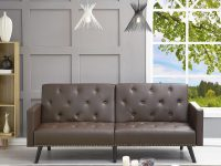 Naomi Home Convertible Tufted Futon Sofa throughout Unique Tufted Living Room Furniture
