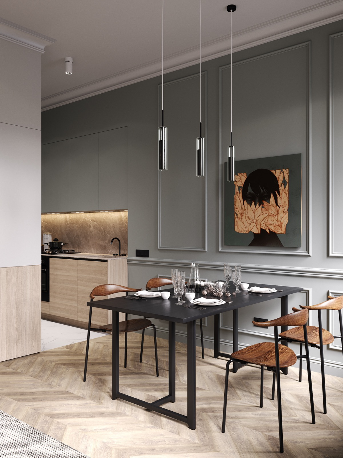 neoclassical-grey-dining-room