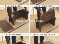 New Multi Folding Wooden Japanese Tea Table Coffee Folding Table For Living Room Furniture Low Modern Minimalist Compact Tatami in Inspirational Japanese Living Room Furniture