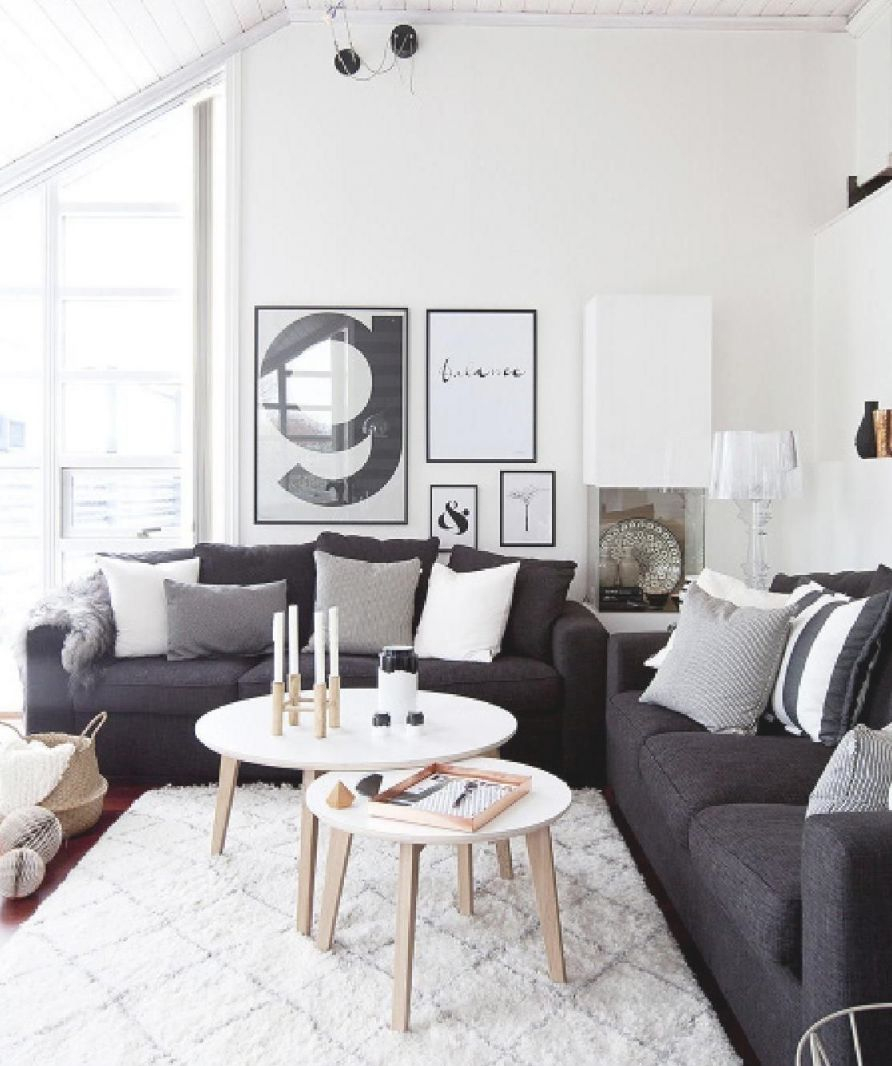 Nibhjemme 6 Interiors Scandi Cool Dark Grey Couches Pertaining To Dark Gray Couch Living Room Ideas Awesome Decors
