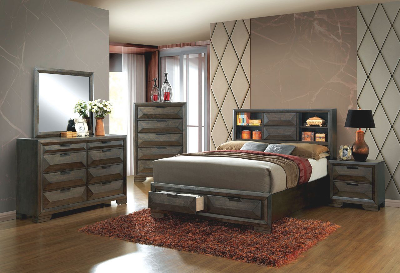 King Bed Frame With Headboard