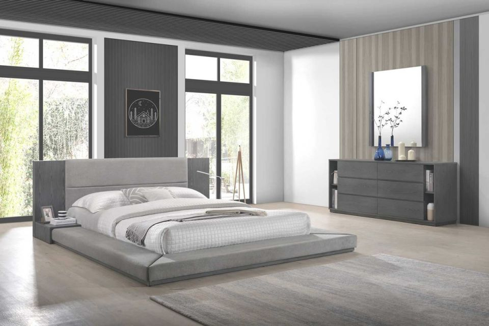 Nova Domus Jagger Modern Grey Bedroom Set regarding Awesome Bedroom Set Grey