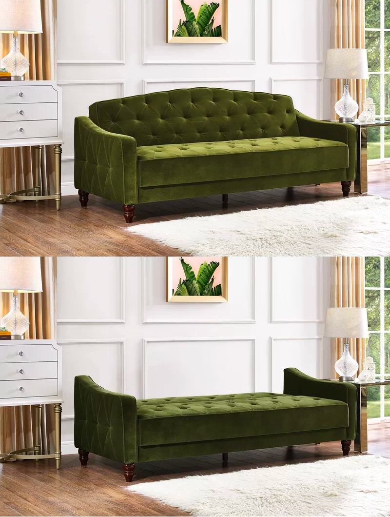 novogratz-vintage-tufted-sofa-sleeper-ii-green-velvet-upholstery-with-wood-legs