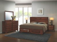 Oakland 139 Antique Oak Wood Queen-Size 5-Piece Bedroom Set with Beautiful Bedroom Set Queen