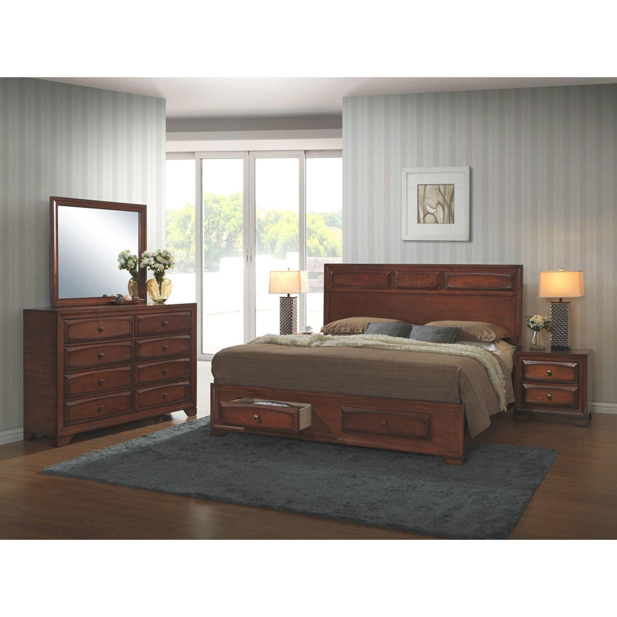 Oakland 139 Antique Oak Wood Queen-Size 5-Piece Bedroom Set with Beautiful Bedroom Set Queen