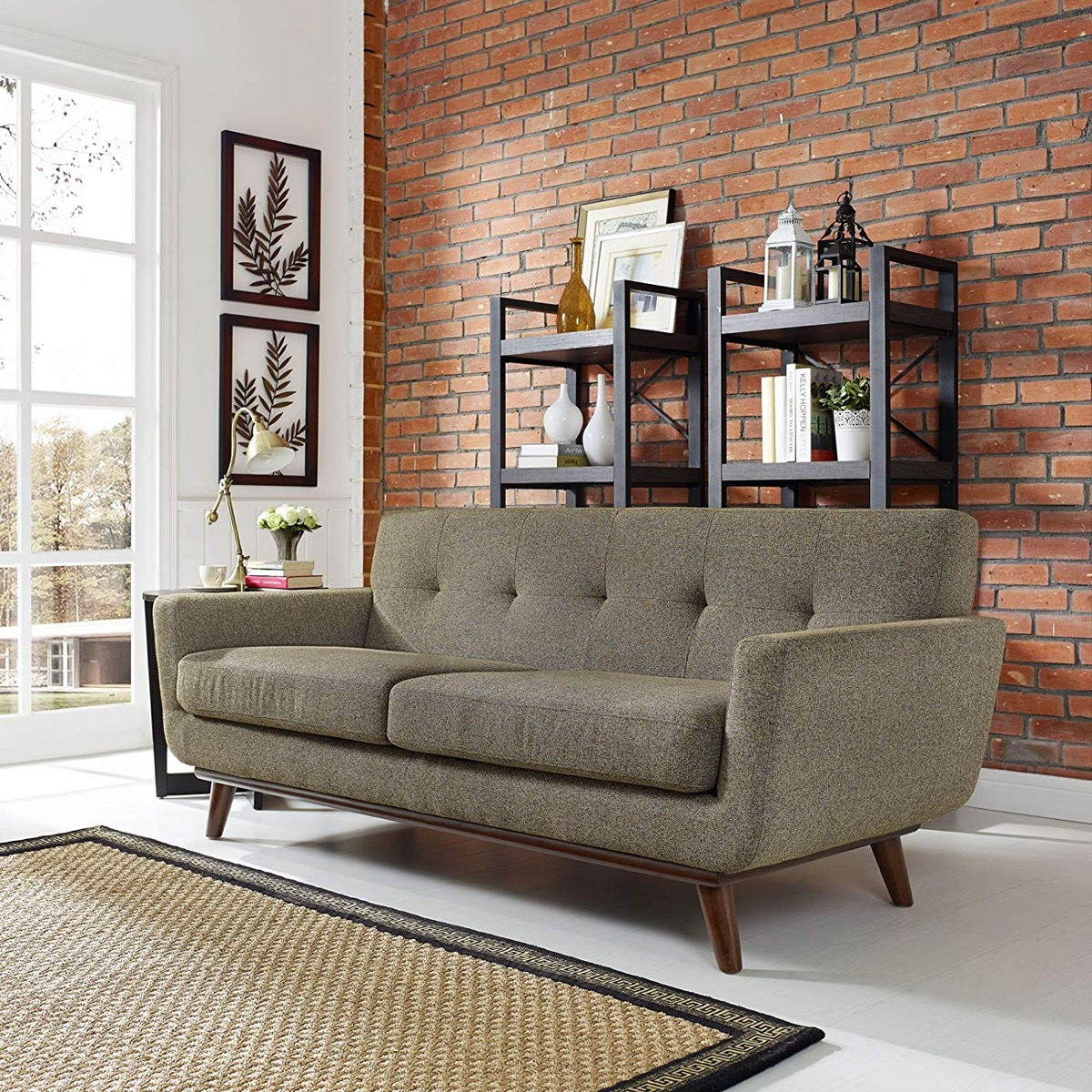 oatmeal-fabric-tufted-loveseat-for-modern-homes