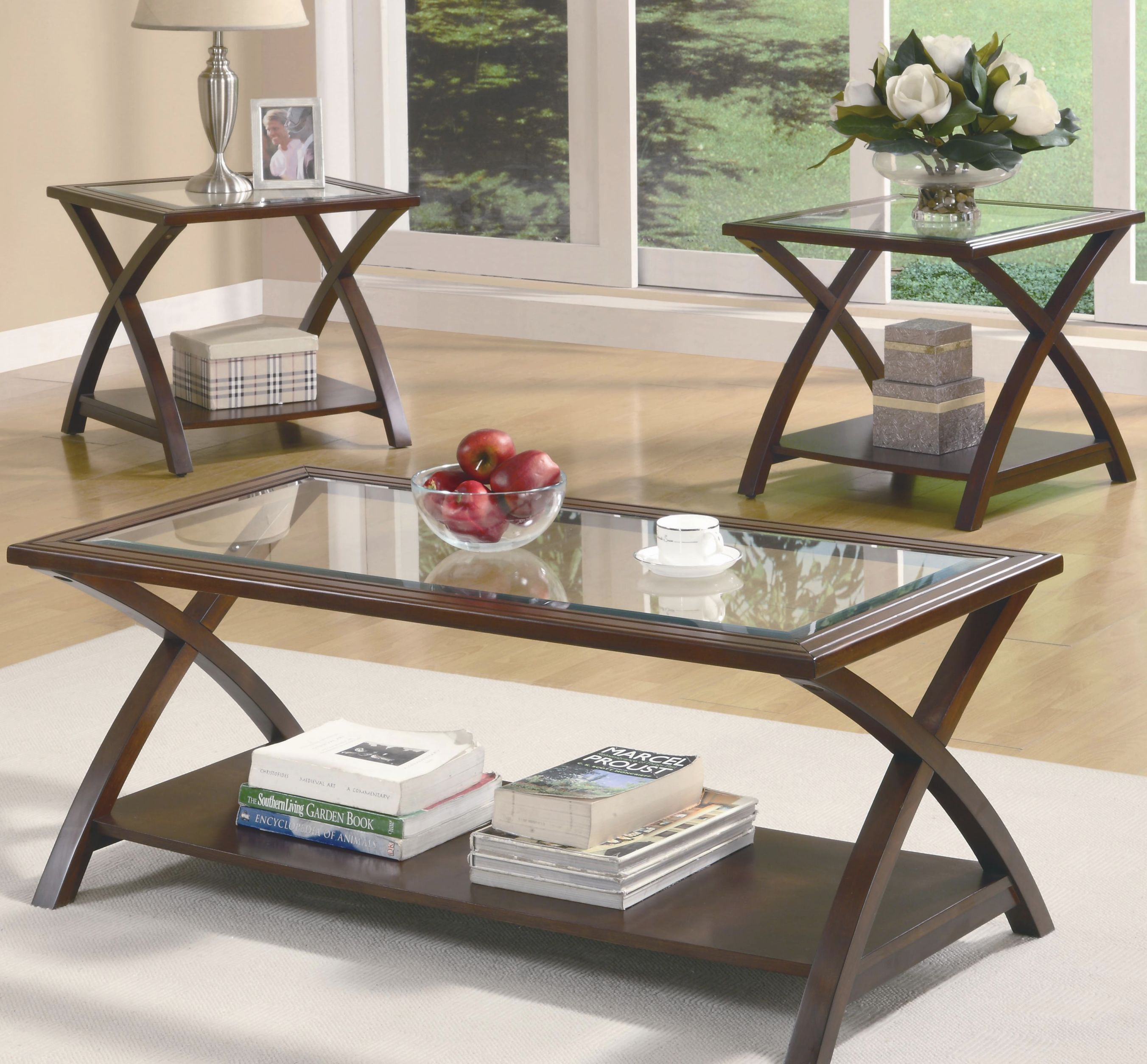 Occasional Table Sets Coffee Table And End Table Setcoaster At Dunk & Bright Furniture intended for Unique Living Room Furniture Tables