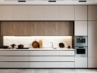 one-wall-kitchen-with-ample-storage-with-white-and-wood-cabinetry
