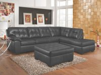 Onyx Bonded Leather Match Sectional Sofasimmons with regard to Simmons Living Room Furniture