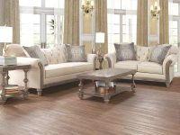 Parchment Tufted Sofa And Loveseat with Tufted Living Room Furniture