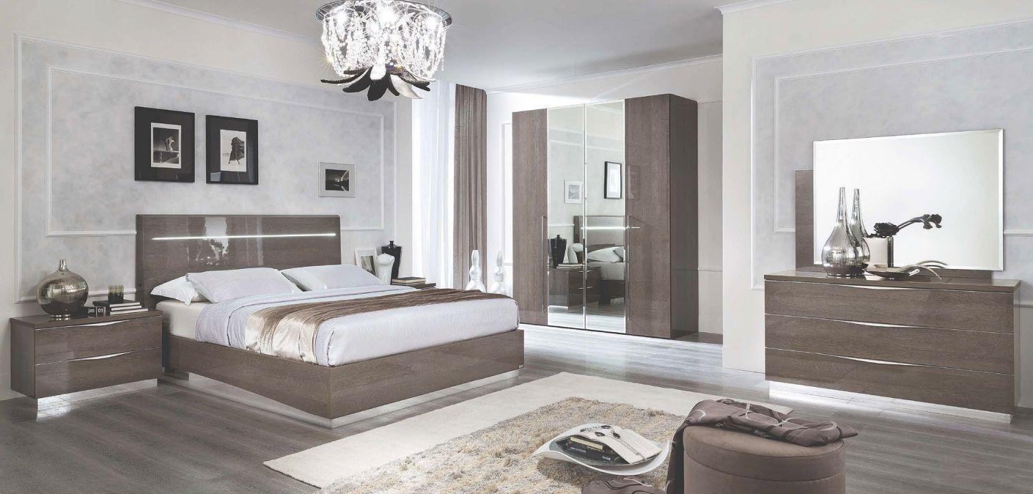 Platinum Legno Bedroom Set with regard to Luxury Bedroom Set Modern