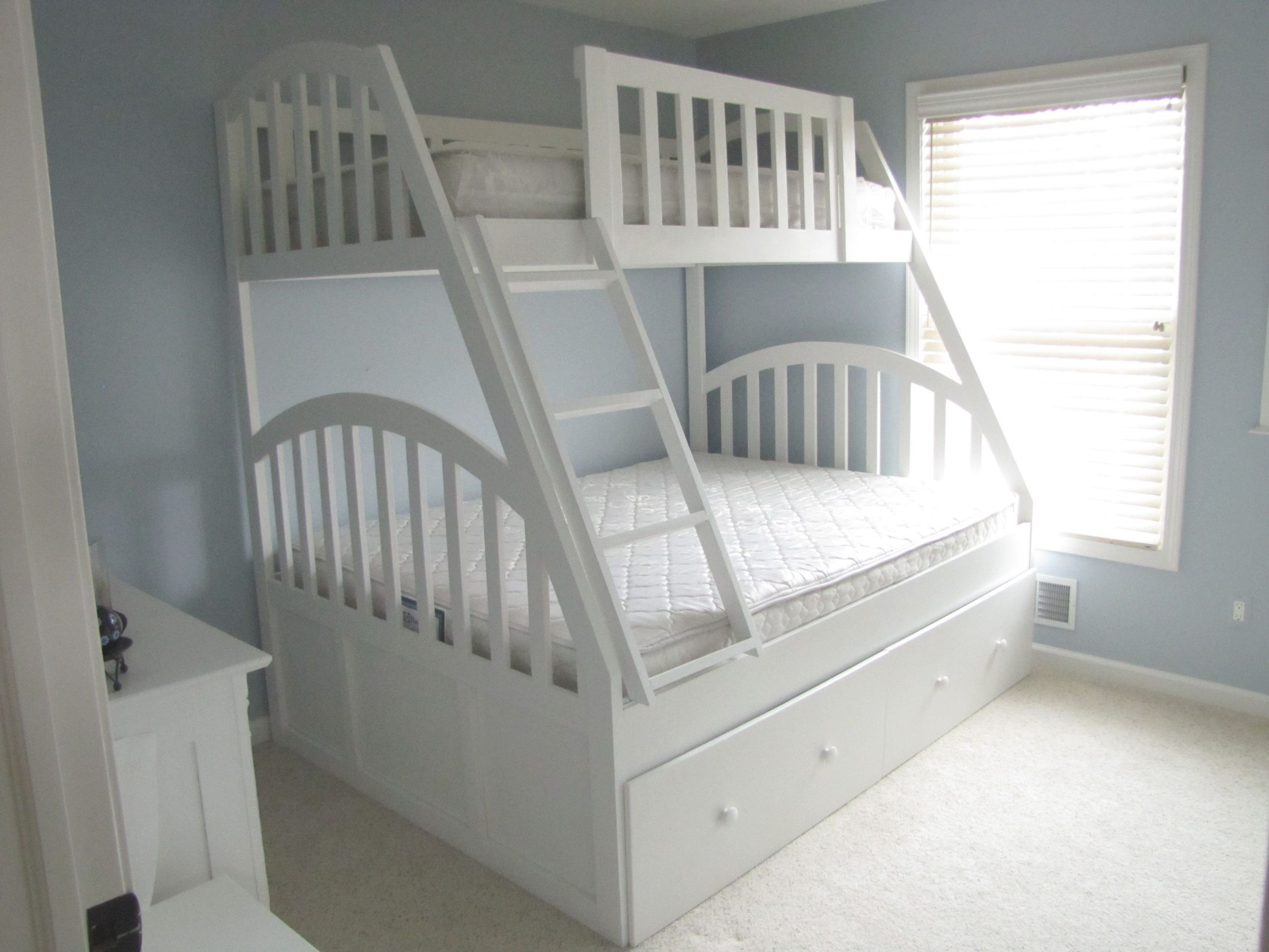 Queen And Xl Twin Bunk Bed With Full Trundle throughout Full Size Bed With Trundle Bedroom Set