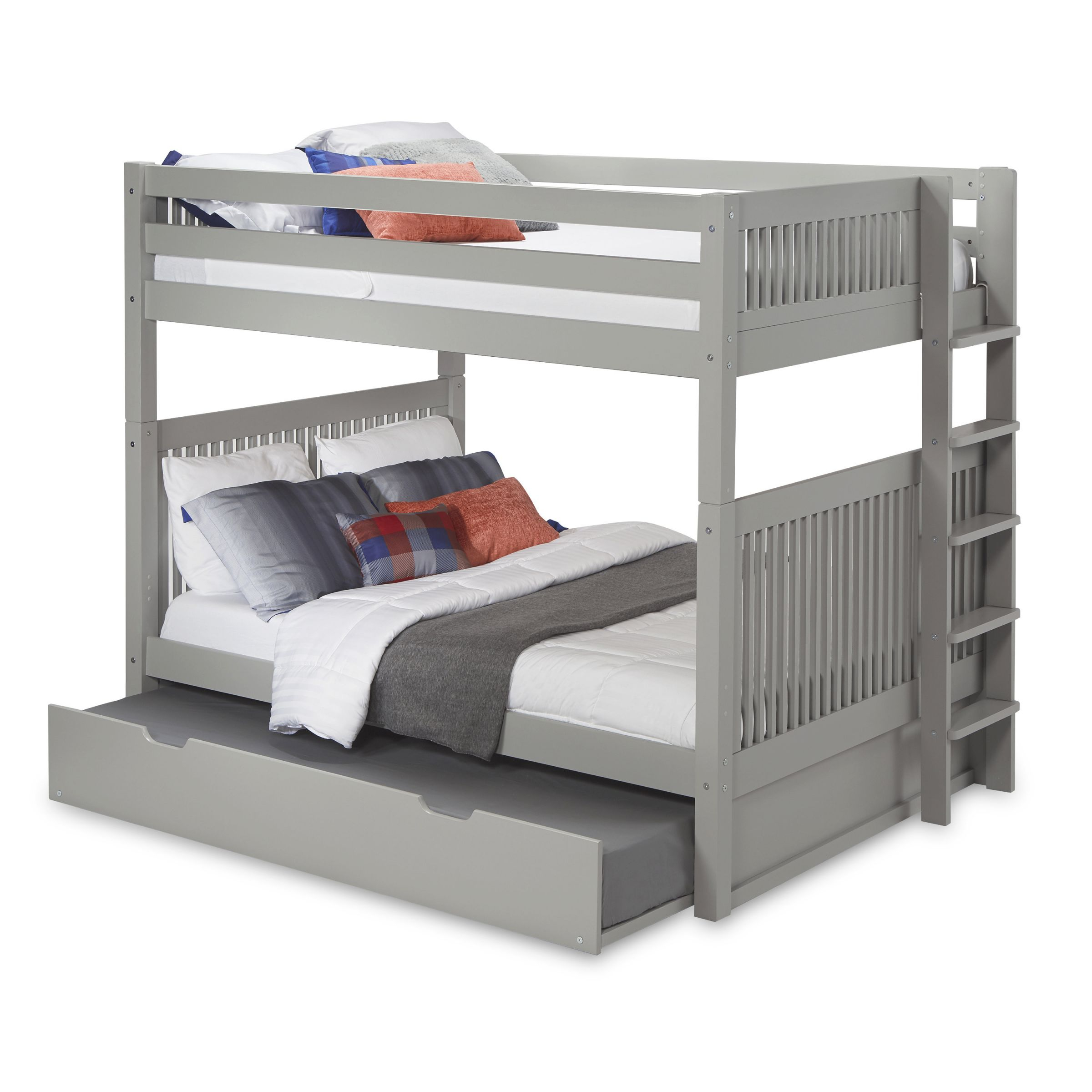 Rabon Full Over Full Bunk Bed With Trundle in Awesome Full Size Bed With Trundle Bedroom Set