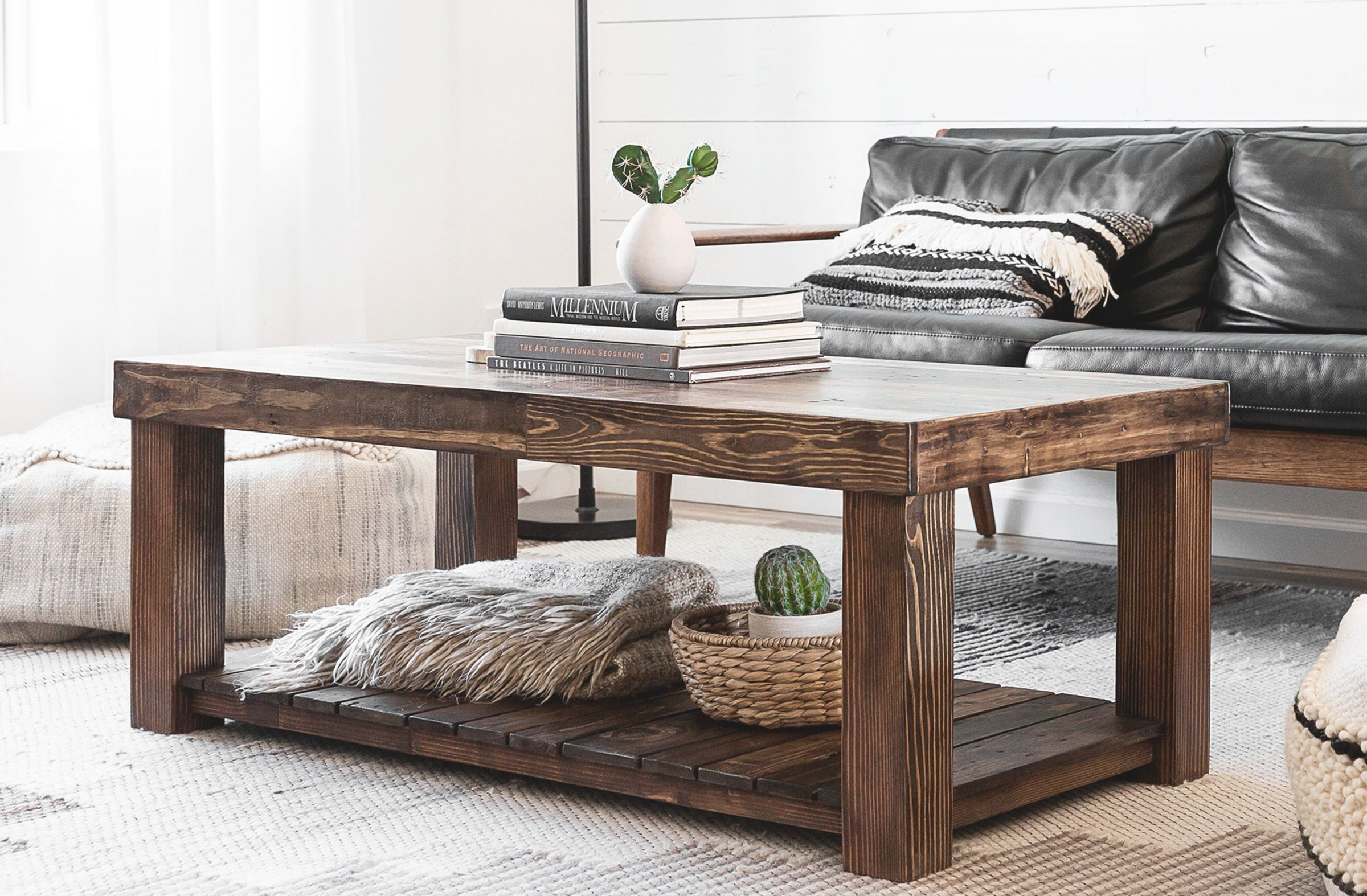 Reclaimed Wood Coffee Table Rustic Vintage Modern Accent ...