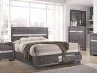 Regata Storage Bedroom Set (Grey) within Awesome Bedroom Set Grey