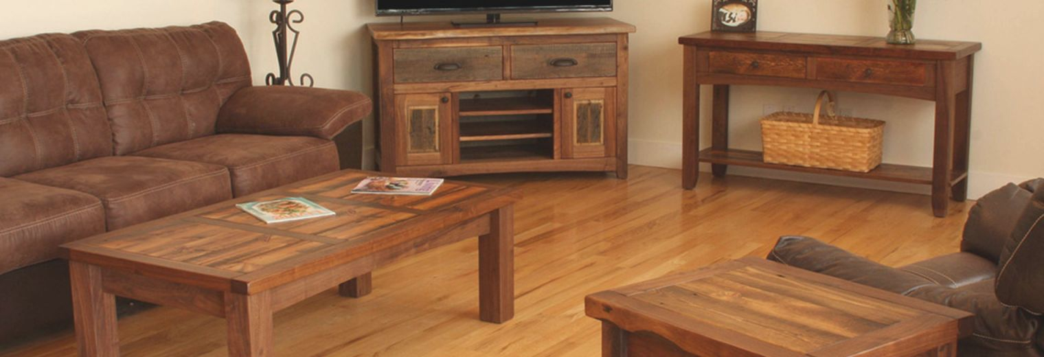 Rustic Living Room Furniture: Wood & Log Chair, End Table with Inspirational Rustic Living Room Furniture