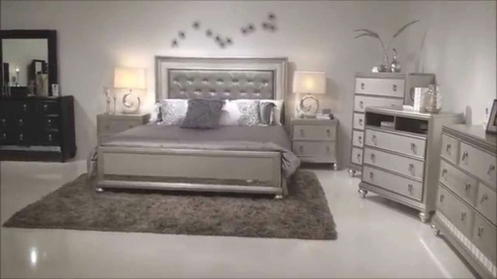 Samuel Lawrence Diva Bedroom Group With Upholstered Headboad & Bling | Home Gallery S pertaining to Fresh Bedroom Set Ideas
