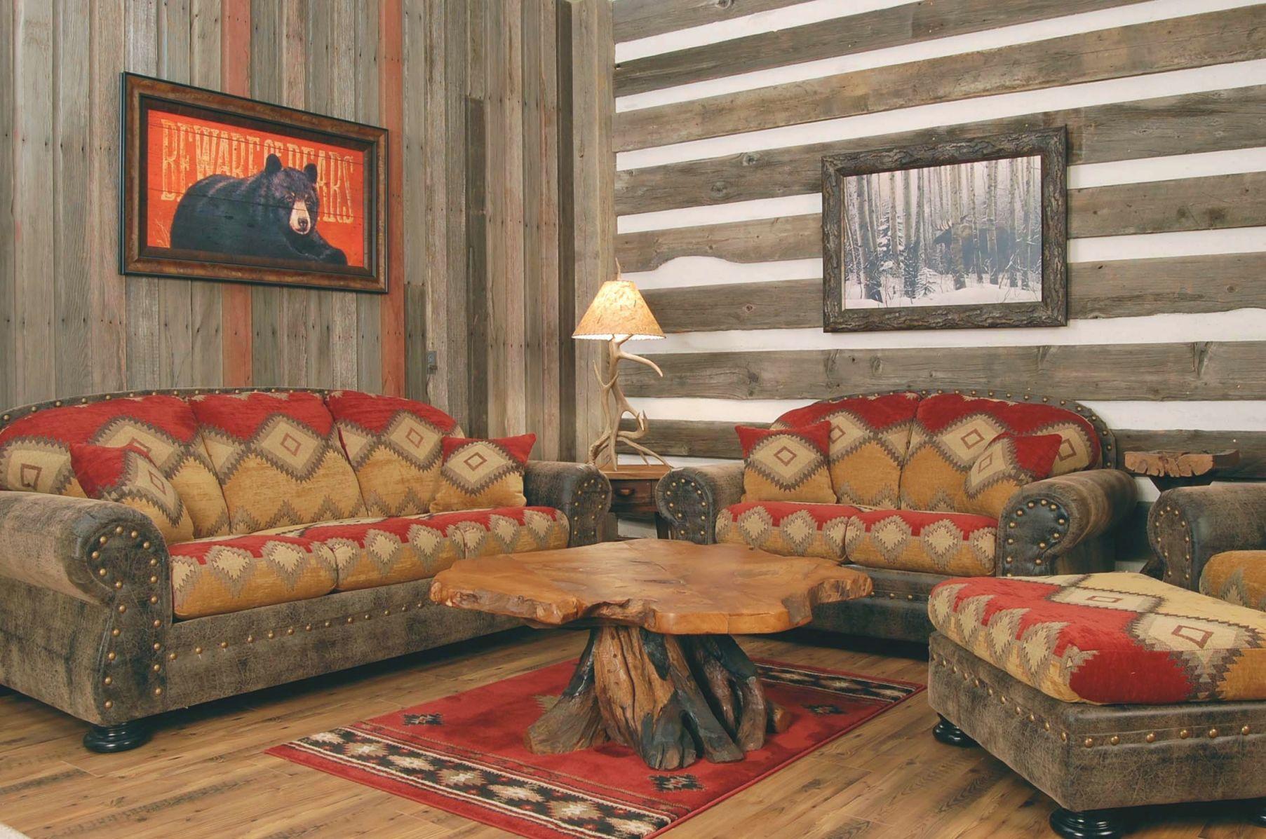 Santa Fe Rustic Living Room Sofa Set Santa Fe Rustic Living within Rustic Living Room Furniture