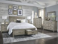 Sayler Queen Storage Platform Configurable Bedroom Set in Awesome Bedroom Set Grey