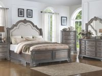Sheffield Panel Bedroom Set (Antique Grey) intended for Bedroom Set Grey