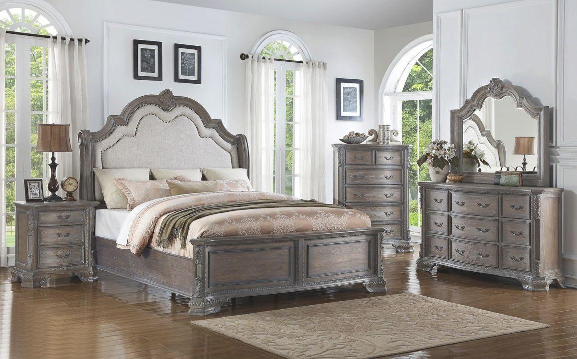 Sheffield Panel Bedroom Set (Antique Grey) intended for Bedroom Set Grey