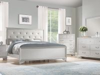 Silver Mirror Bedroom Set | Wayfair with Bedroom Set Grey