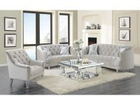 Silver Orchid O'fredericks Grey 2-Piece Tufted Living Room Set with regard to Unique Tufted Living Room Furniture