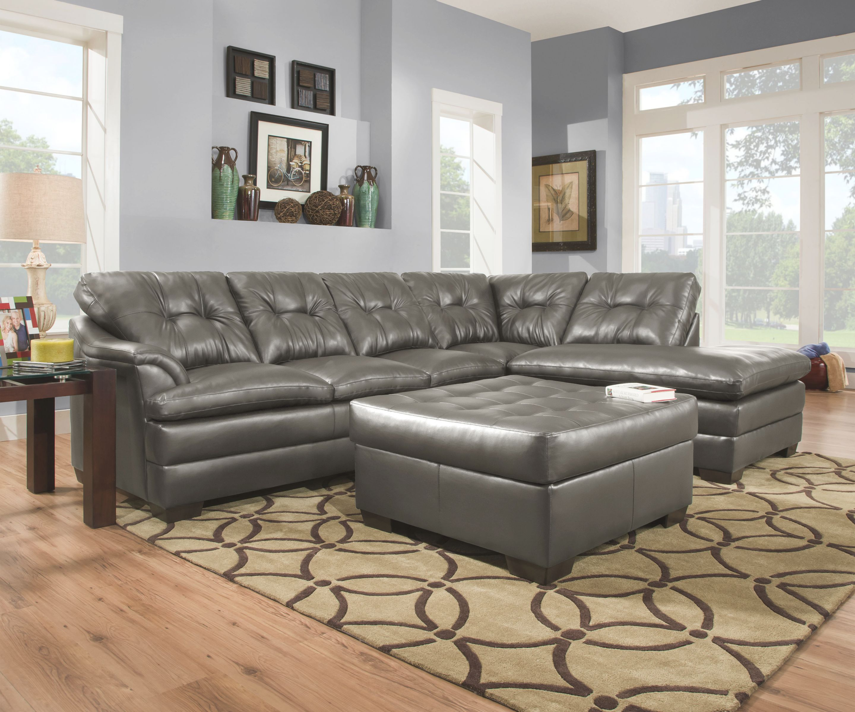 Simmons Apollo Charcoal 2Pc Sectional inside Simmons Living Room Furniture