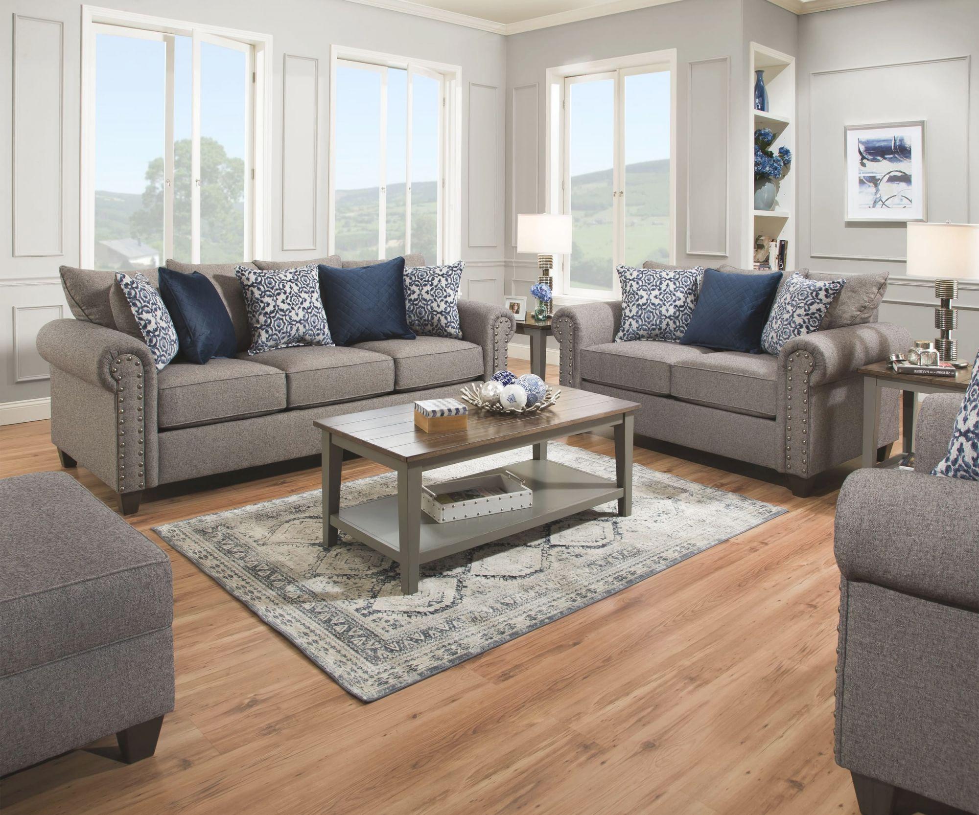 Simmons Upholstery 9175Br-01 Emma Slate, 9175Br-02 Emma Slate, 9175Br-03 Emma Slate for New Simmons Living Room Furniture