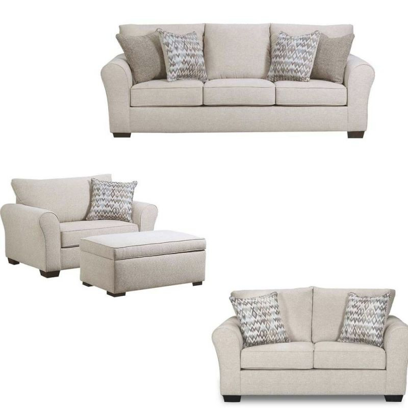 Simmons Upholstery – Boston 4 Piece Living Room Set – 1657 for New Simmons Living Room Furniture