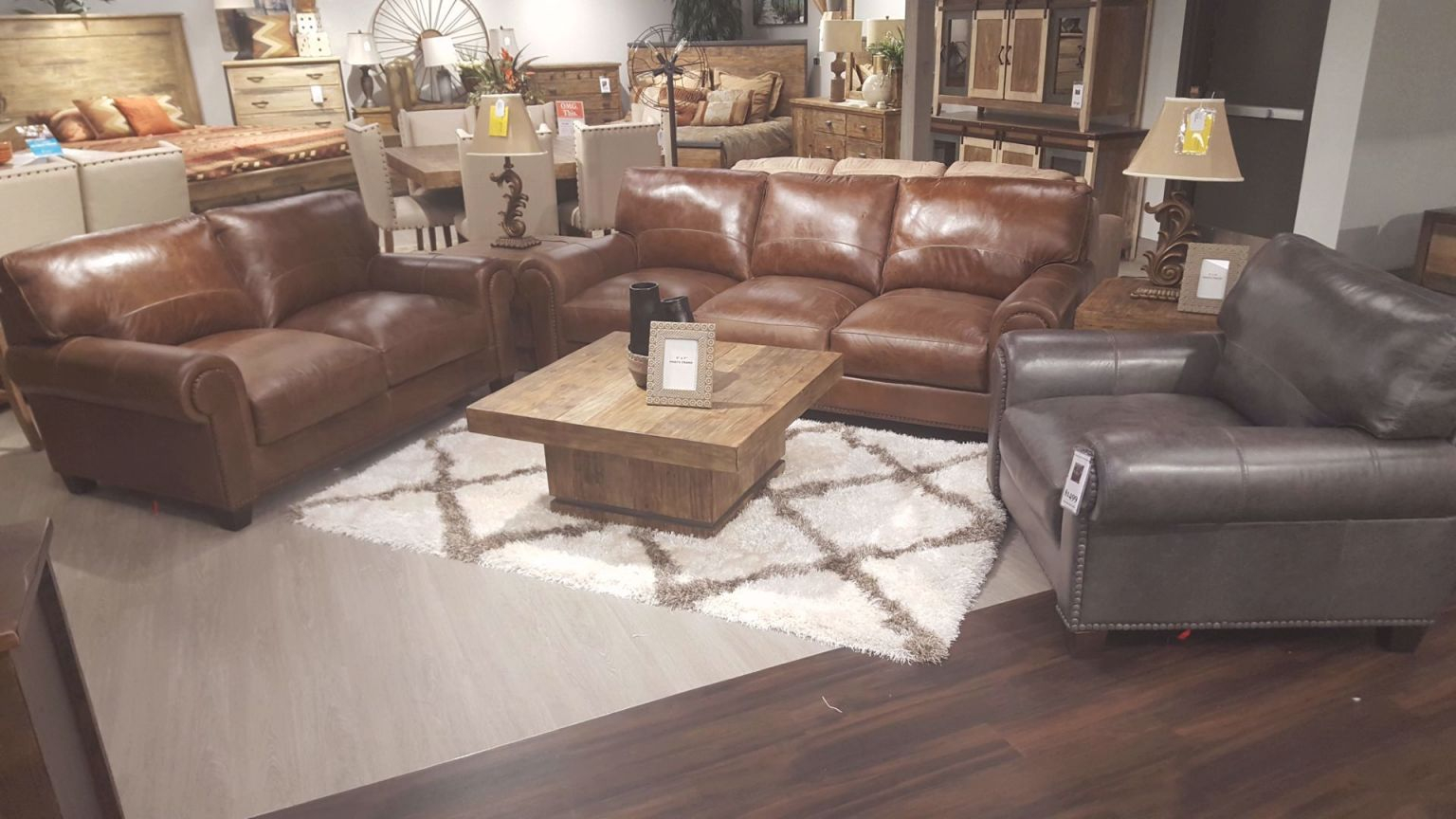 Splendora Tan Leather Living throughout New Leather Living Room Furniture
