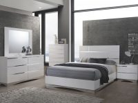 Stanton White Platform Bedroom Set – Queen | Nader's Furniture within Bedroom Set Queen