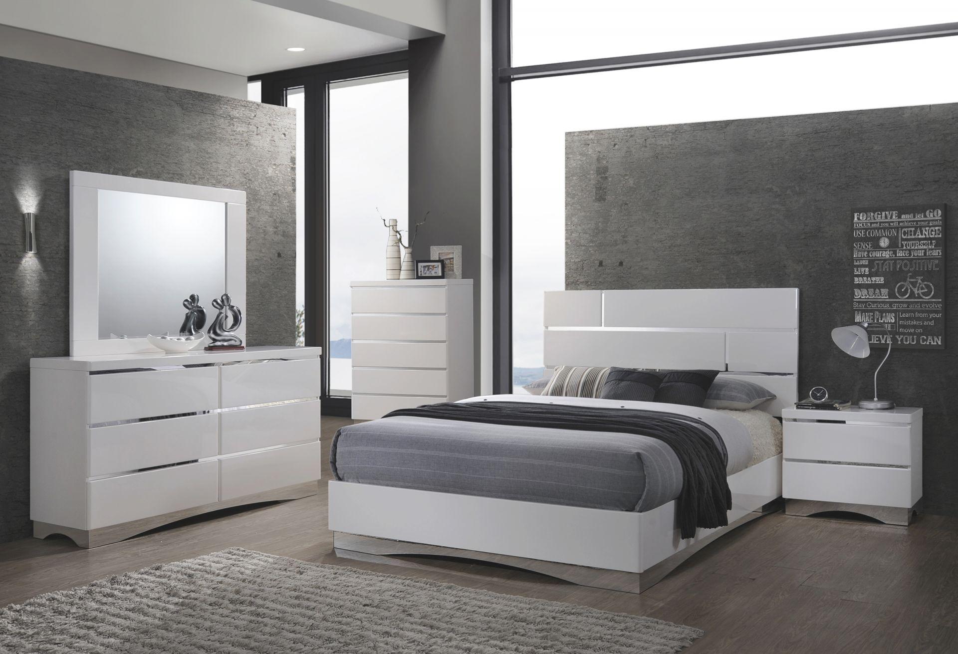 Stanton White Platform Bedroom Set – Queen | Nader's Furniture within Bedroom Set Queen