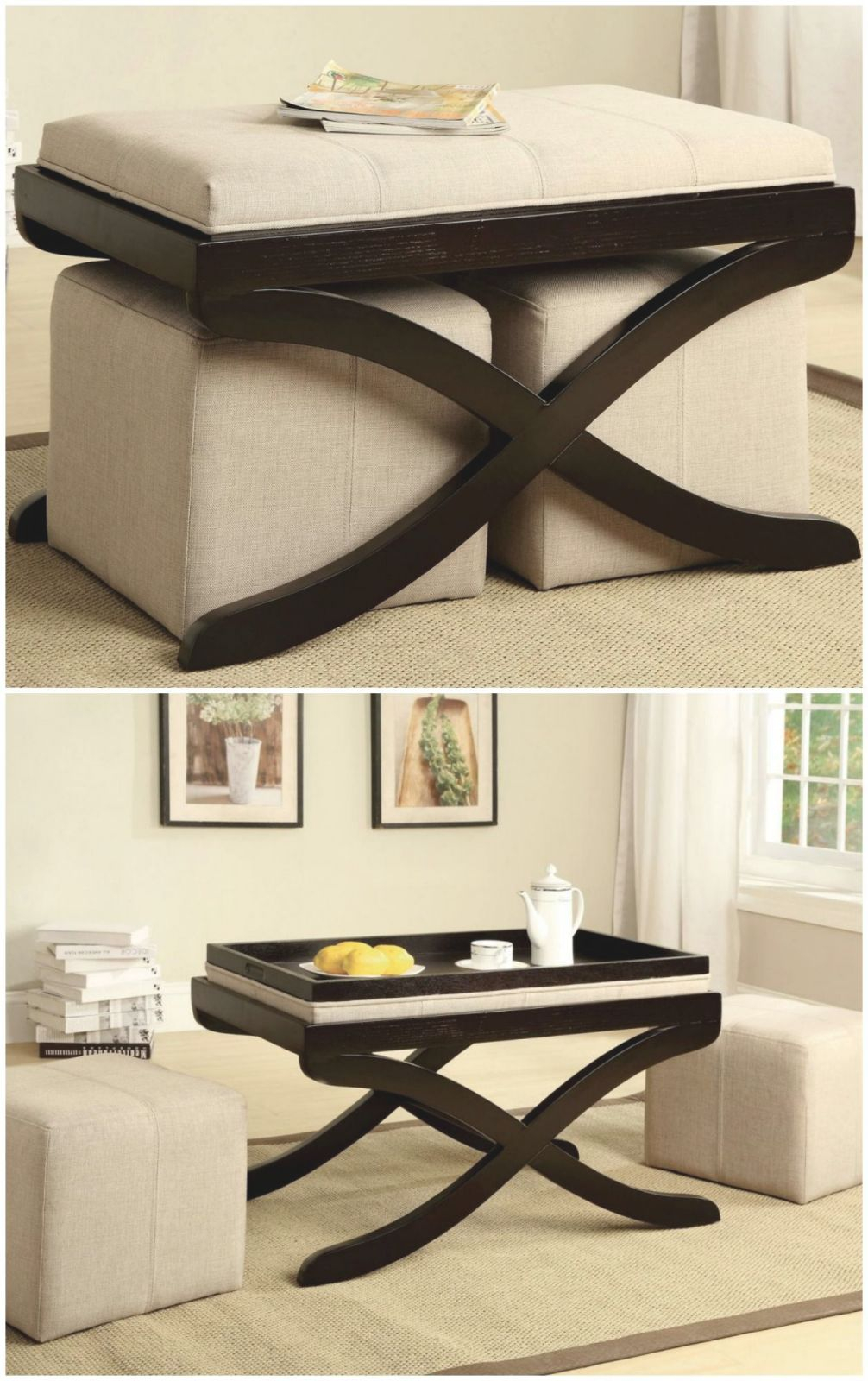 Stylish And Space-Saving. Padded Bench Seat Can Be Flipped within Elegant Space Saving Living Room Furniture