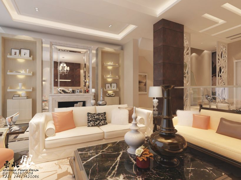 Stylish Living Room Wall Shelves With Cream Sofa And Black intended for Elegant Large Wall Decor Ideas For Living Room