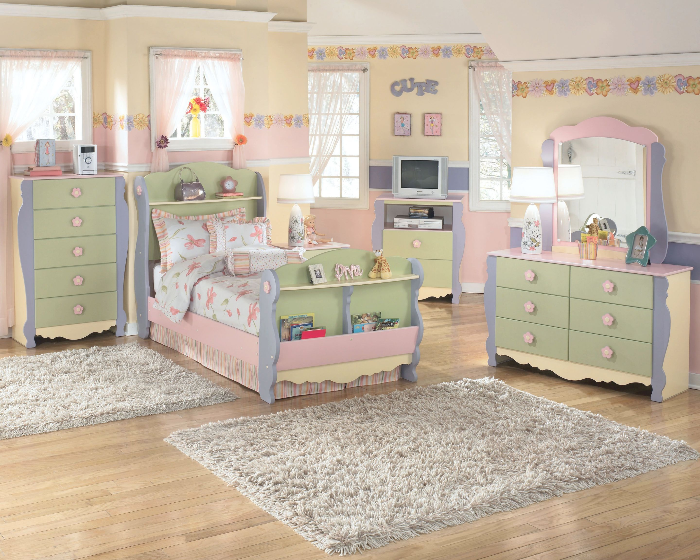 Such A Sweet Ashley Furniture Home #bedroom For A regarding Lovely Bedroom Set Girl