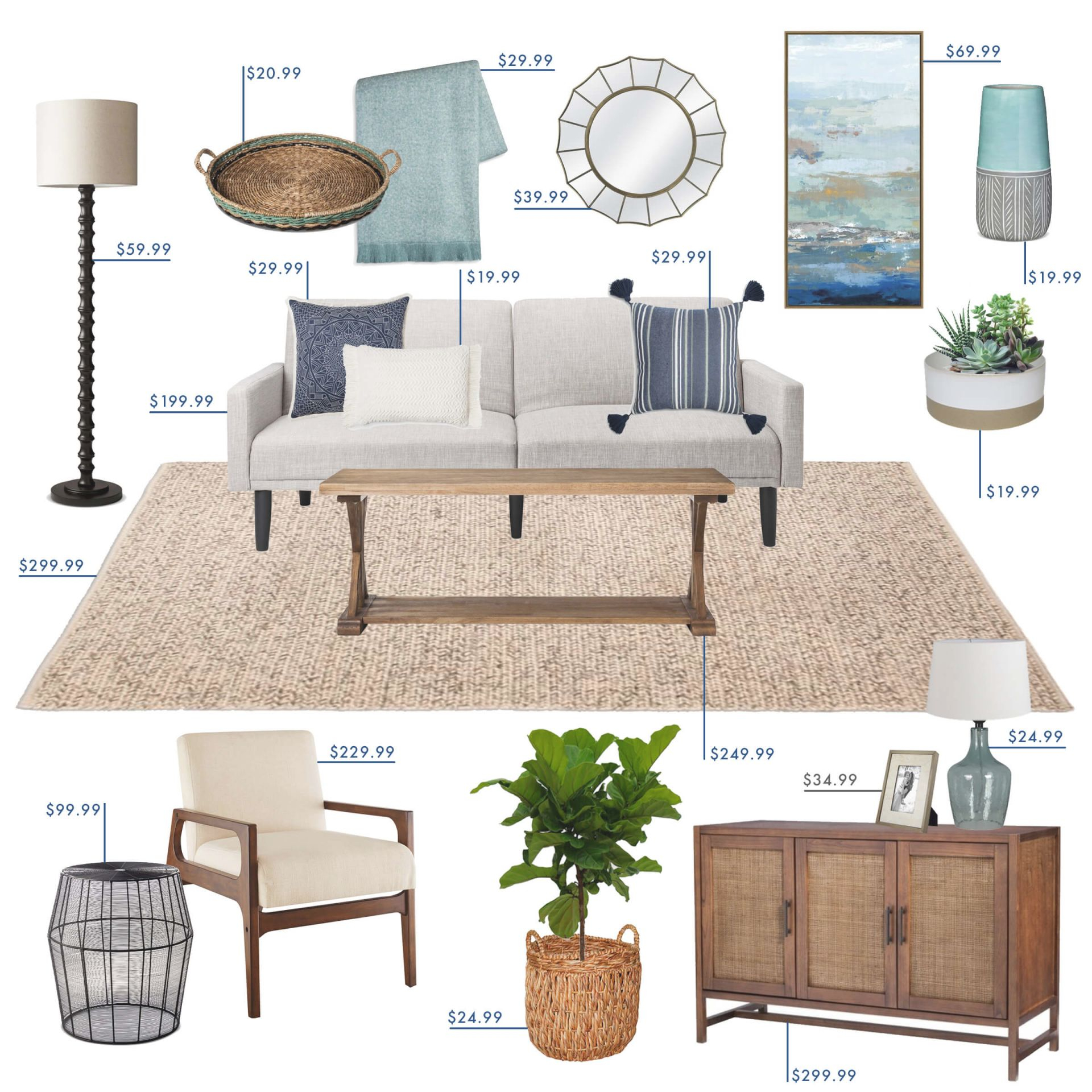 Target Budget Living Room - Emily Henderson in Unique Target Living Room Furniture
