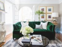 The Couch Trend For 2017: Stylish Emerald Green Sofas intended for Beautiful Green Living Room Furniture