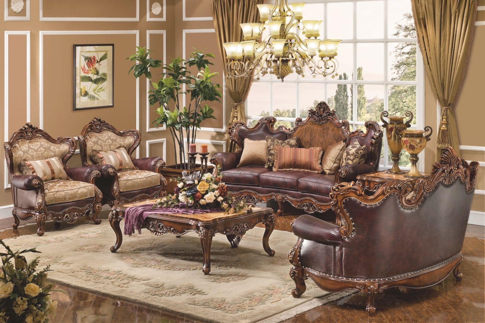 The Normandy Formal Living Room Collection – Living Room regarding Traditional Living Room Furniture