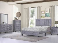 Titanic Furniture Rustic Grey 4 Piece Queen Bedroom Set throughout Bedroom Set Grey