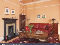 Traditional Living Room With Red Leather Sofa And Wooden in Luxury Red Leather Living Room Furniture