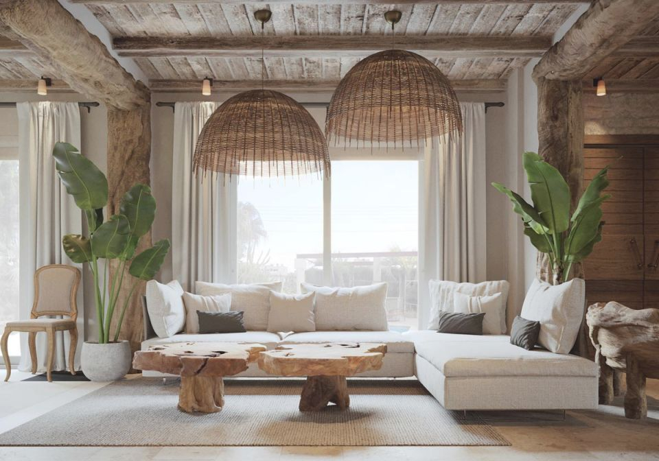 Tree-Trunk-Coffee-Tables-Modern-Rustic-Living-Room-Furniture inside Inspirational Rustic Living Room Furniture
