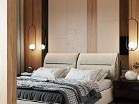 unique-platform-bed-with-bedroom-pendant-lights-on-either-side