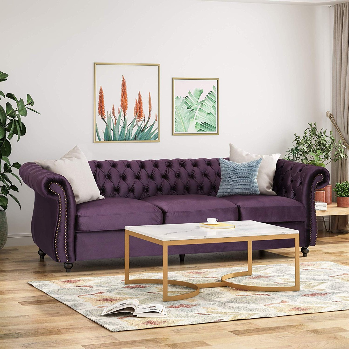 unique-purple-tufted-sofa-with-rolled-arms-and-deep-diamond-velvet-tufting