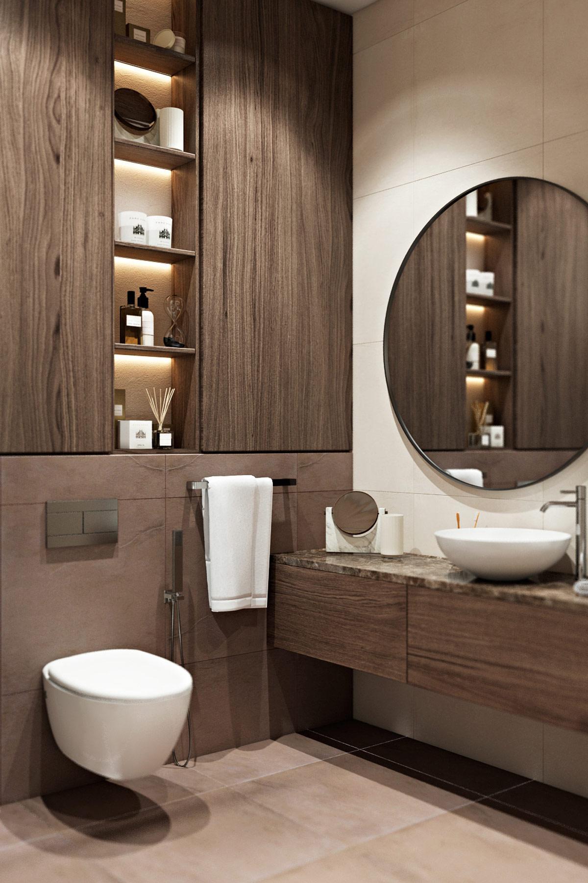 unique-storage-design-for-modern-master-bathroom-vertical-open-shelves-between-cabinets