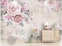 Us $15.0 50% Off|Custom Floral Papel De Parede, Vintage Rose Mural For Living Room Sofa Tv Bedroom Background Home Decor Wallpaper-In Wallpapers From for Floral Living Room Furniture