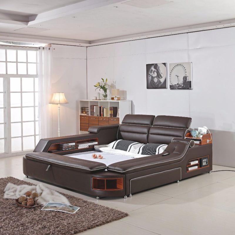 Us $1950.0 |Delivery To Costa Rica ! 2018 Limited New Arrival Modern Bedroom Set Moveis Para Quarto Furniture Massage Soft Bed With Safe-In Bedroom throughout Luxury Bedroom Set Modern